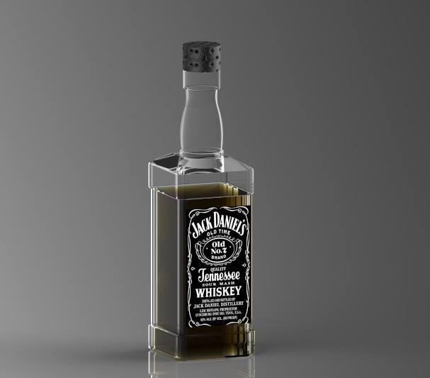 Bottiglia Jack Daniel's - Virtualizzazione